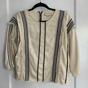 Anthropologie cream sweater/pullover